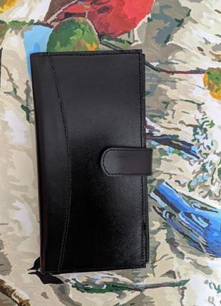 Кожаное портмоне, кошелек, натуральная кожа