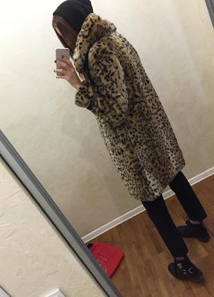 Нереально крутая шуба леопард
