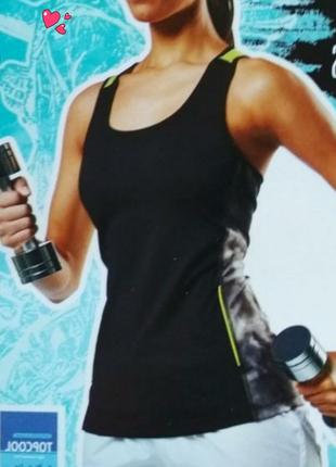 Майка crivit функциональная со вставками,одежда для фитнеса