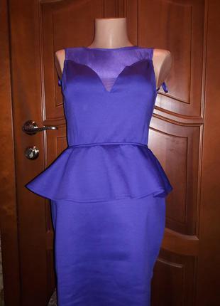 Коктельное платье с баской открытая спина
