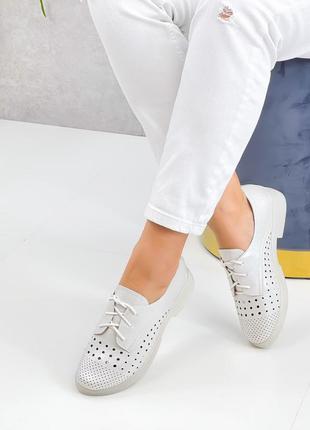 Туфли polana, белый перламутр, натуральная пресскожа