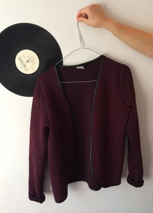Бордовый кардиган vero moda