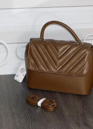 Коричнева стильна сумочка