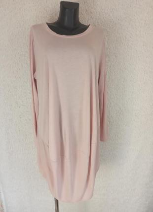 Туника платье в стиле бохо из натурального материала лиоцел