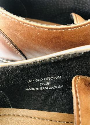 Мужские кожаные туфли cedar crest7 фото