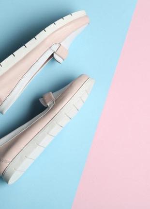 Кожаные  мокасины без шнурков2 фото