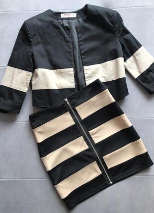 Шикарный костюм юбка + пиджак