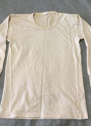 Термо-кофта шерсть лонгслив футболка тёплая шерстяная термо бельё