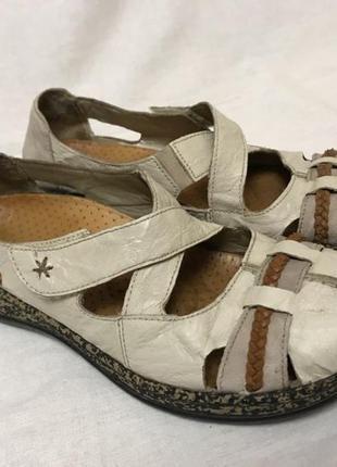Кожаные мокасины - сандалии бренда rieker, р. 37