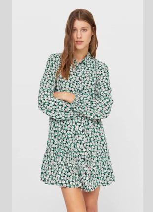 Платье рубашка в цветочный принт m