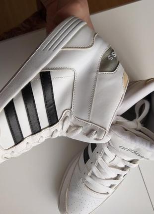 Кроссовки высокие adidas neo label белые 39р,38р