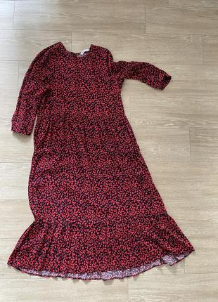 Платье миди свободного кроя