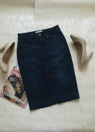 Джинсова юбка джинсова спідниця по фигуре карандаш олівець