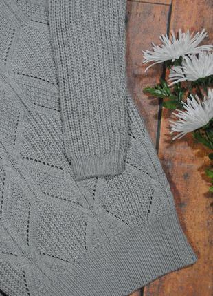 Серый свитер с косами 8530 atmosphere размер uk8/36 (s)3