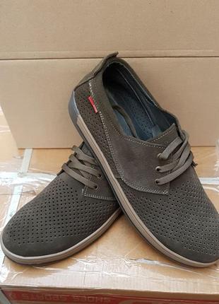 Мужские летние мокасины туфли