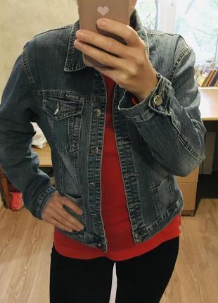 Джинсовая куртка джинсовка курточка джинс демисезонная стрейчевая кардиган пиджак