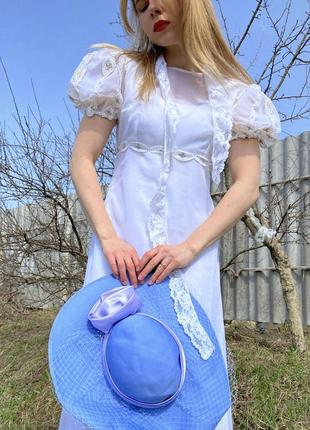 Винтажное винтаж свадебное платье длинное рукава фонарики объёмные трапеция для фотосессии