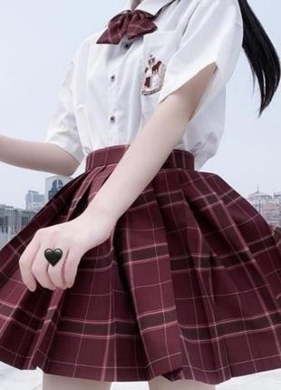 Юбка в клетку юбка плиссе юбка в складку аниме панк3 фото