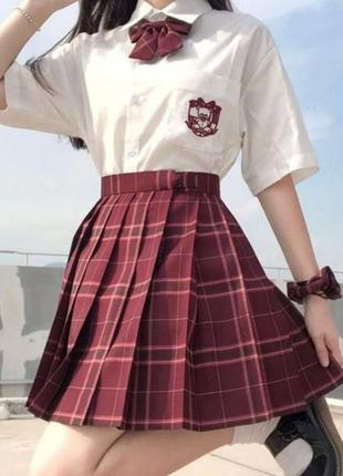Юбка в клетку юбка плиссе юбка в складку аниме панк2 фото