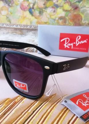 Стильные чёрные солнцезащитные очки wayfarer
