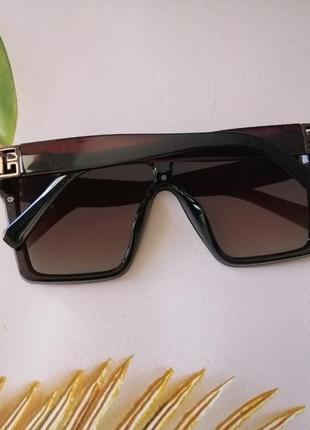 Трендовые коричневые солнцезащитные очки маска 2021