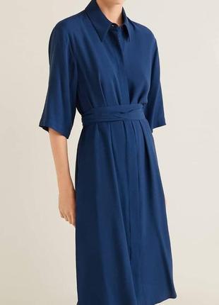 Классное платье рубашка мango.