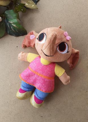 Слон сула заяц бинг из мультфильма bing fisher-price mattel интерактивная мягкая игрушка