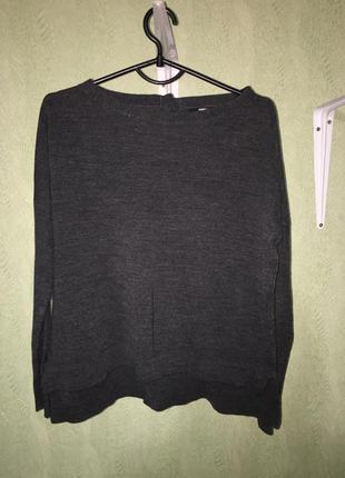 Базовая кофта темно серого цвета