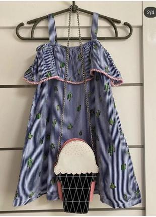 Платье на девочку в кактусы торга нет2 фото