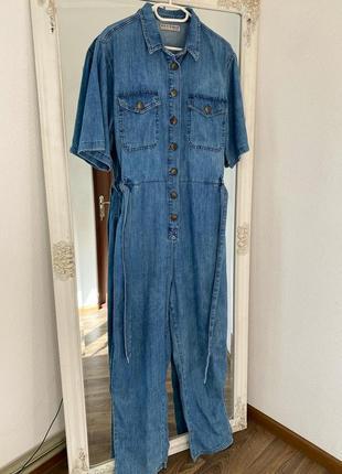 Бомбезный стильный джинсовый комбинезон denim co