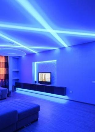 Светодиодная rgb лента 5050 ргб стрічка лед 5м светильник ночник