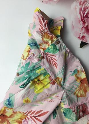Платье в листья и цветы zara5 фото