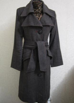 Длинное осенне-весеннее пальто+подарок, 100% шерсть. 1+1= 50% скидки на 3ю вещь.