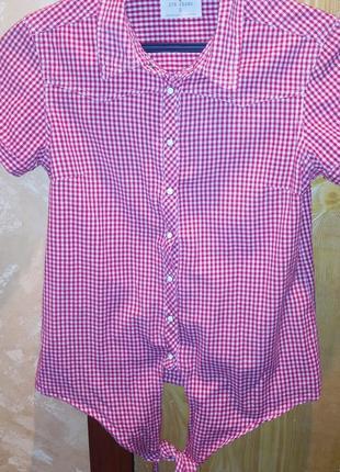 Рубашка с коротким рукавам, красная