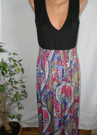 Распродажа!!!платье в пол с принтом