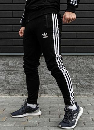 Спортивные штаны adidas/адидас с лампасами(двунитка)