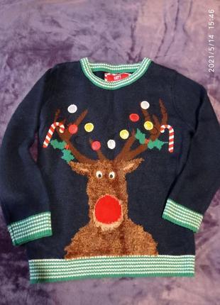 Новогодний свитер олень