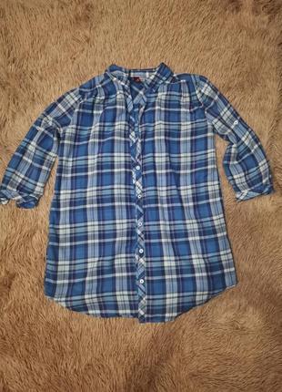 Рубашка, сорочка в клетку h&m 34р xs