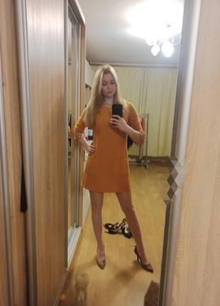 Стильна сукня плаття платье желтое с кружевом miss selfridge м