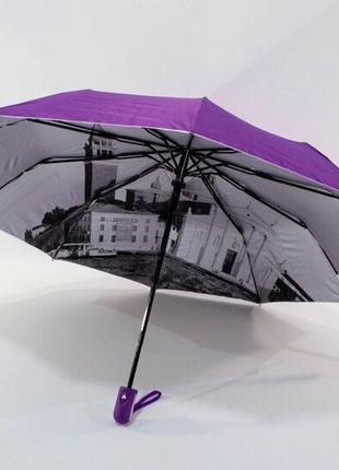 Зонт полуавтомат двусторонний bellissimo венгрия женский парасолька с серебром