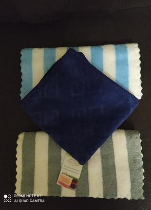 Набор 3 шт. полотенца из микрофибры. турция.