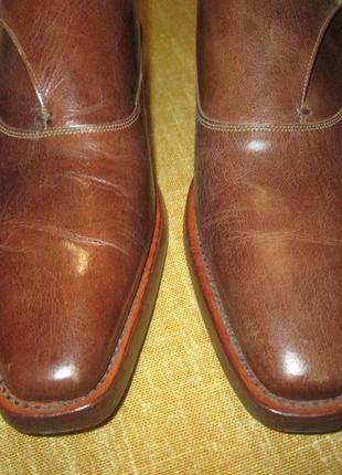 Монки от elgg (швейцария), туфли кожаные ручная работа goodyear welted7 фото