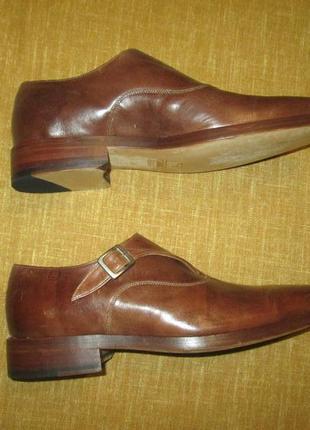 Монки от elgg (швейцария), туфли кожаные ручная работа goodyear welted9 фото