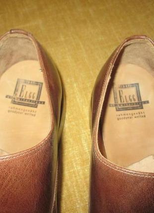 Монки от elgg (швейцария), туфли кожаные ручная работа goodyear welted8 фото