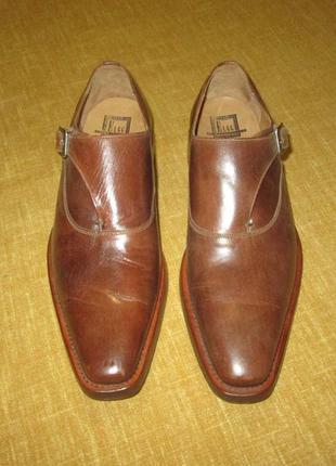 Монки от elgg (швейцария), туфли кожаные ручная работа goodyear welted3 фото