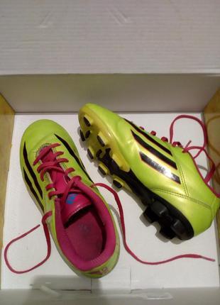 Adidas f5 trx fg кроссовки футбольные бутсы р 13,5 англ 19,5 см цвет салатовый