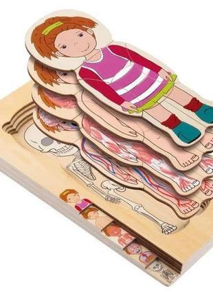 Деревянный слой-пазл для девочек playtive
