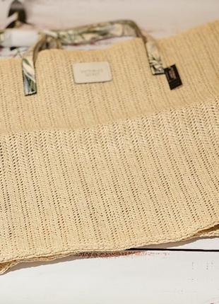 Плетёная сумка victoria's secret tote4 фото