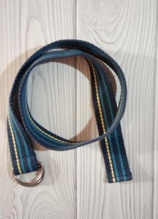 Пояс текстиль текстильный синий