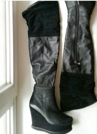 Ботфорды кожаные зимние